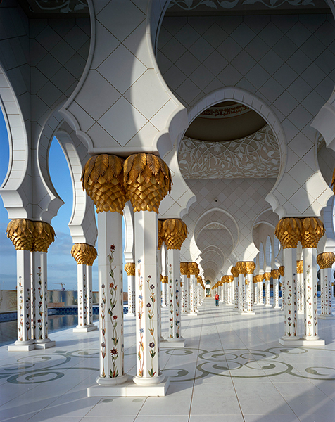 Collonade, Sheikh Zayed Mosque